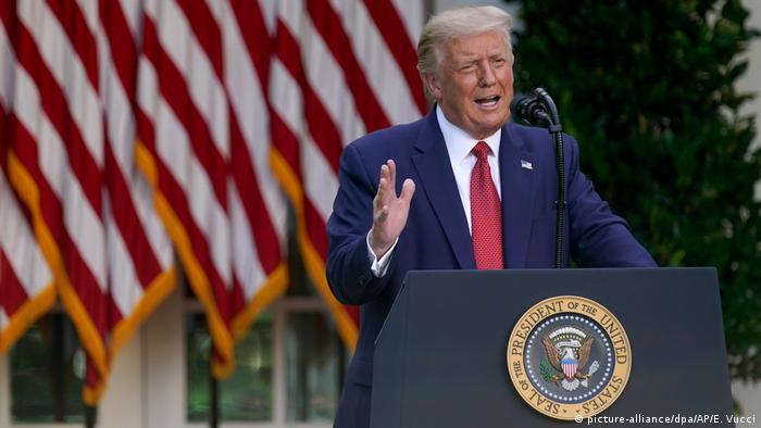 USA | US-Präsident Trump | PK im Rosengarten