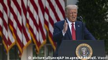USA | PK | US-Präsident Trump (picture-alliance/AP Images/AP Photo/E. Vucci)