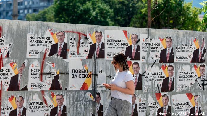 Nordmazedonien Wahlen irstijan Mickovski Wahlkampf (Getty Images/AFP/R. Atanasovski)