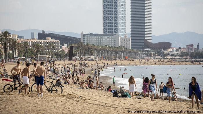 Spanien Corona-Pandemie Barcelona (picture-alliance/dpa/XinHua/City Hall of Barcelona)