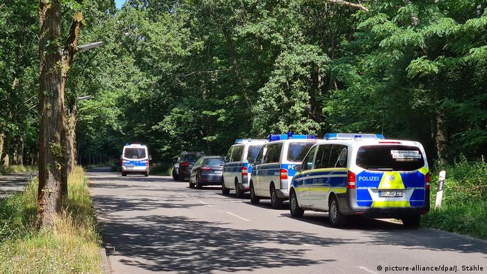German police looking for the suspect in Potsdam