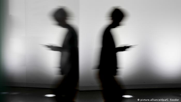 Double silhouette in a Berlin government office