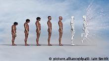 Evolution des Menschen | Caveman zu Roboter | Digital Art