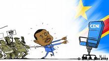 Demokratische Republik Kongo   Karikatur   Meddy Jumanne