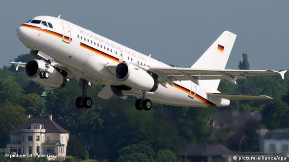 Новый лайнер A319CJ, переданный в этом году руководству ФРГ