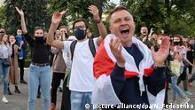 Weißrussland Minsk Proteste und Festnahmen vor Präsidentschaftswahl