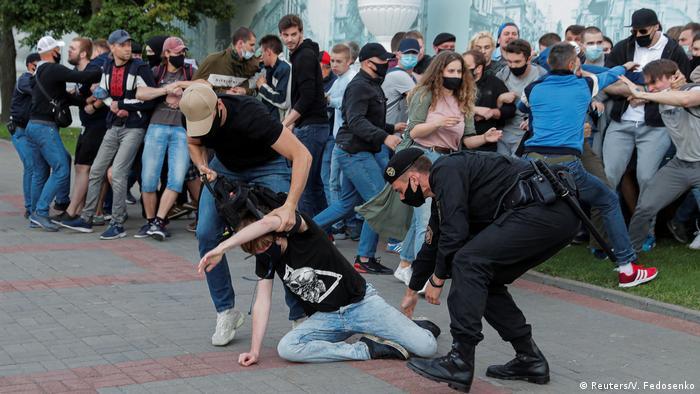 Protesters arrested in Minsk