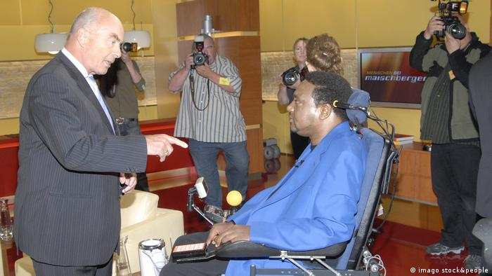 Anti-racism campaigner Noel Martin (seated, in wheelchair)