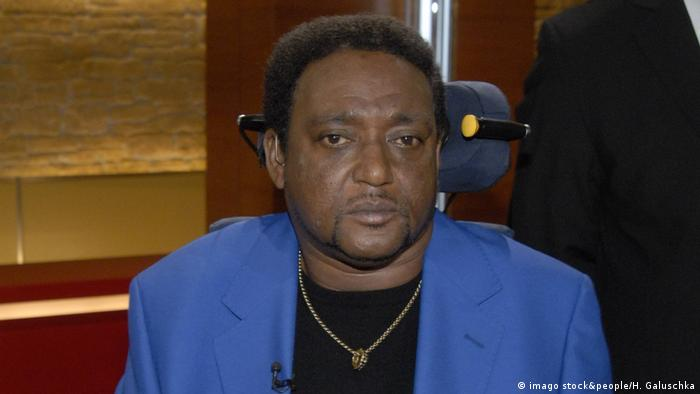 Anti-racism campaigner Noel Martin while appearing on a German talk show
