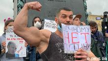 Protest in Moskau gegen die Verfassungsänderung