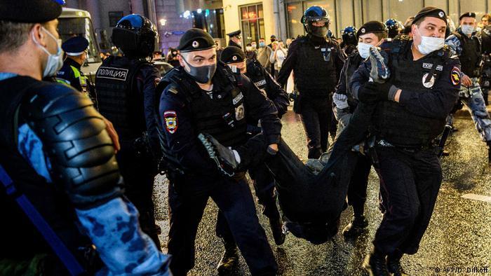 Proteste in Russland (AFP/D. Dilkoff)