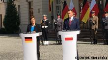 Polen Warschau | Verteidigungsministerin Annegrett Kramp-Karrenbauer und Mariusz Błaszczak