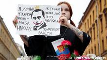 Russland Protest gegen Verfassungsänderung in Moskau
