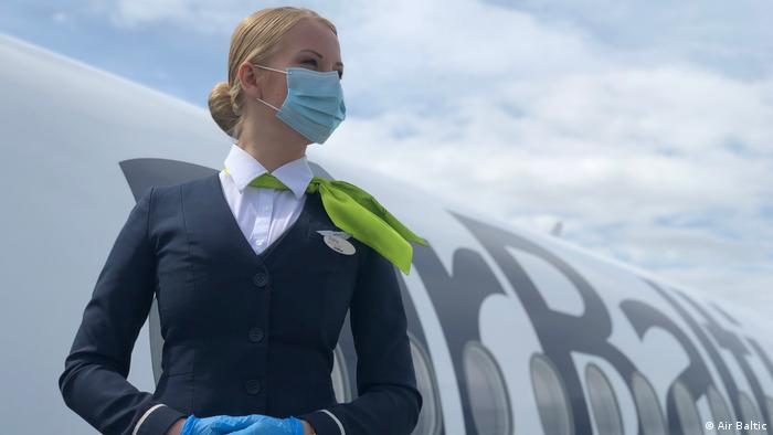 An Air Baltic flight attendant