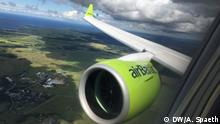 Impressionen Fliegen in Corona-Zeiten bei Air Baltic