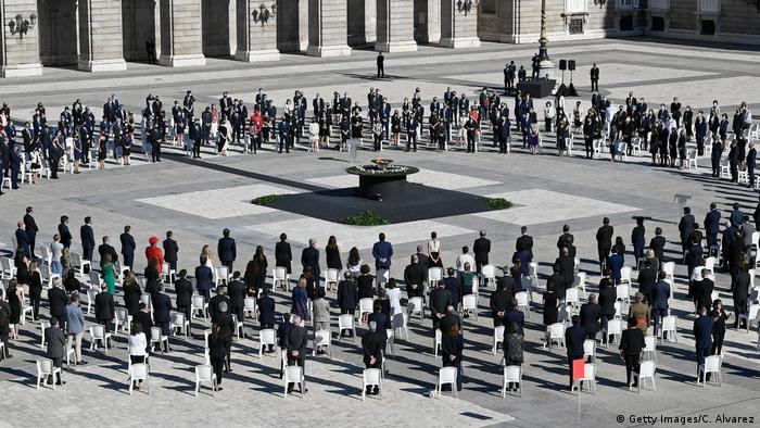 Trauerfeier zu Ehren der Coronatoten in Madrid (Getty Images/C. Alvarez)