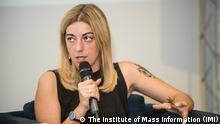 Ekaterina Sergatskova, die Ukrainische Journalistin und Mitgründerin der Internetplattform Zaborona