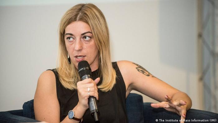 Катерина Сергацкова, українська журналістка й співзасновниця інтернет-платформи Заборона