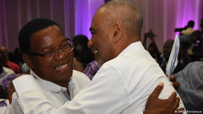 Tansania Opposition Bernard Membe und Maalim Seif Sharif Hamad (DW/E. Boniphace)