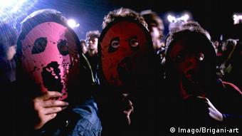 The Wall Live in Berlin von Roger Waters inszenierte Show und Konzert Performance 1990 in Berlin (Imago/Brigani-art)