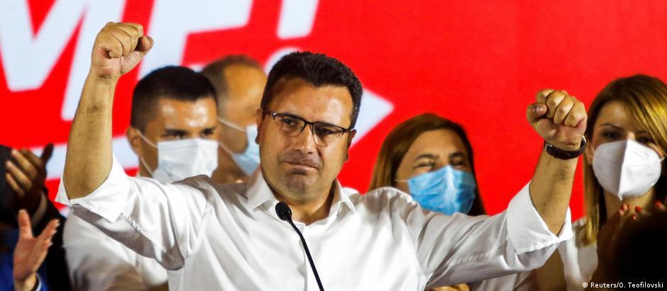Nord-Mazedonien Skopje Parlamentswahlen Zoran Zaev