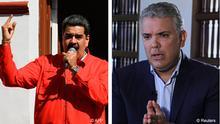 Kombobild Nicolas Maduro und Ivan Duque