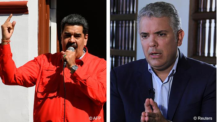 Foto de Nicolas Maduro e Iván Duque