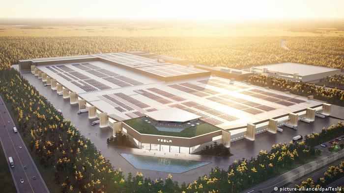 Future look of Gigafactory near Berlin
