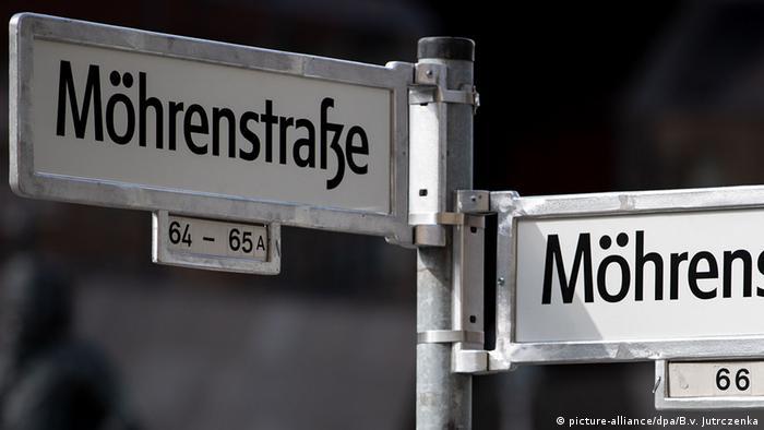 Placa de rua Möhrenstrasse