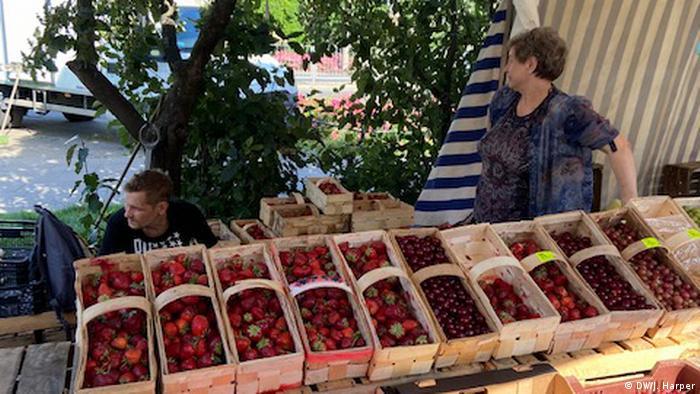A fruit market near Warsaw, Poland