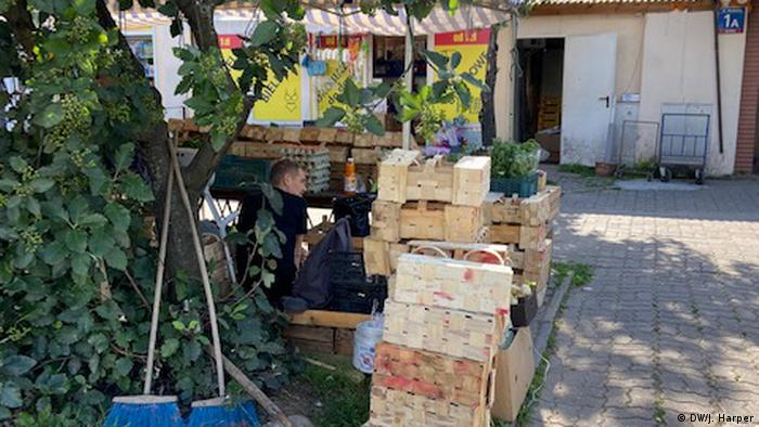 Fruits and vegetables waiting to be bought at the Bronisze exchange
