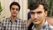 Iran Studenten Amir Hossein Moradi und Ali Younesi