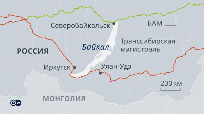 Инфографика: где находятся БАМ и Транссибирская магистраль