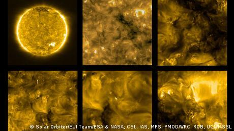 Solar Orbiter image of the sun (Solar Orbiter/EUI Team/ESA & NASA; CSL, IAS, MPS, PMOD/WRC, ROB, UCL/MSSL)