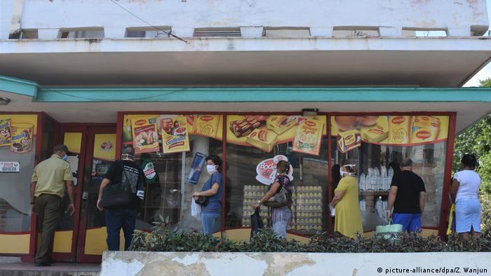 Kuba Geschäfte Supermarkt Shop Coronavirus