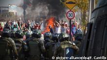 Chile Coronavirus Proteste in Santiago