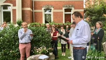 Церемония открытия памятной таблички Последнего адреса в Наумбурге 17 июля