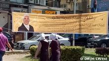 Straßenszene aus Damaskus vor den Parlamentswahlen in Syrien
