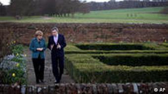 Angela Merkel und Gordon Brown