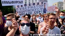 Russland, Khabarovsk I Protest gegen die Verhaftung von Gouverneur Furgal