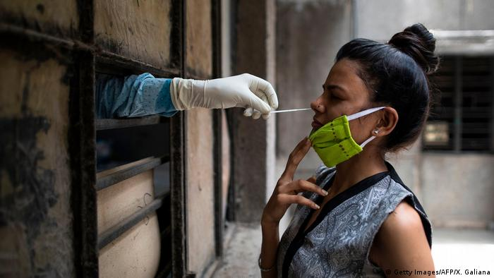 Coronavirus in Indien (Getty Images/AFP/X. Galiana)