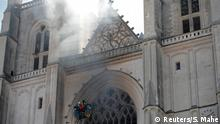 Frankreich Nantes | Großbrand in Kathedrale