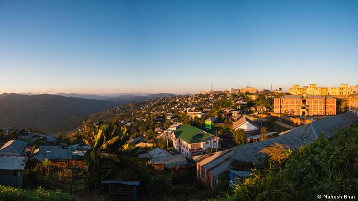 View of Ukhrul town in Manipur, which is the home of Thangkul Nagas