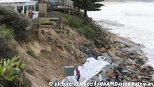 Australien Küstenerosion  Schäden in Gosford