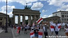 Deutschland I Demonstration in Berlin I Wahlen in Weißrussland