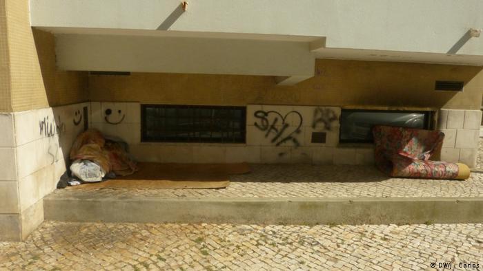 Portugal I Obdachlose in Lissabon I Coronavirus (DW/J.. Carlos)