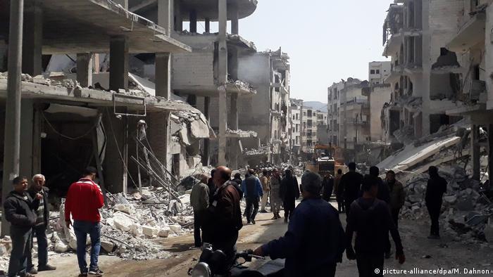 Destrucción en Idlib por bombardeos. (Archivo).