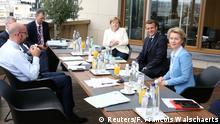 Brüssel I EU-Gipfel I Tag 3 I Charles Michel I Emmanuel Macron I Angela Merkel I Ursula von der Leyen