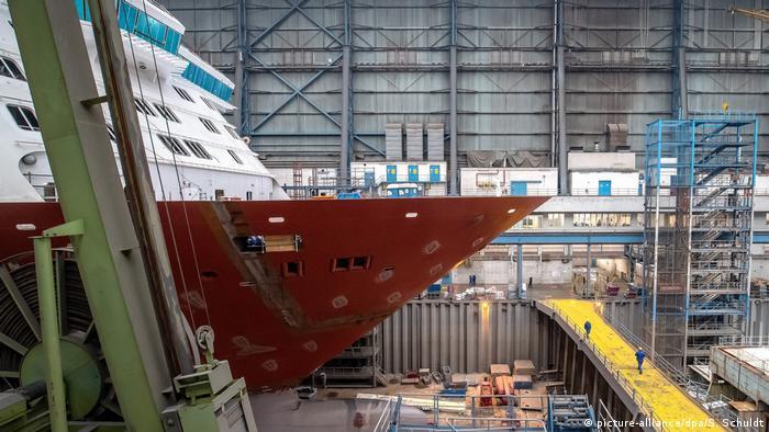 Como también en el caso del astillero Meyer en Papenburg, los pedidos ya iniciados aún pueden ser procesados.