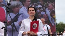 Belaurs Minsk Veranstaltung von Swetlana Tichanowskaja, Oppositionskandidatin